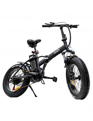 elcykel för offroad, snö och sand. Hopfällbar med extra breda däck.