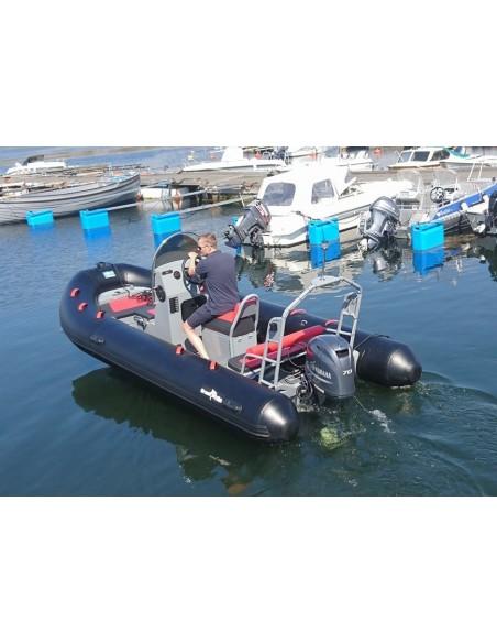 Ribbåt RIB510 aluminiumskrov - Soffa & rattkonsol - Greatwhite