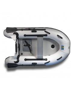 Gummibåt IF230 uppblåsbar V-köl, aluminiumdurk, grå