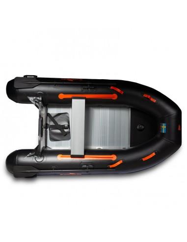 Gummibåt IF270 uppblåsbar V-köl, aluminium, svart