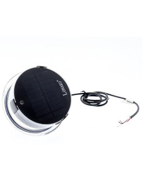 LED lanterna med Solpanel, inbyggt batteri, 360° vitt, 112.5° rött resp. grönt