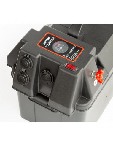 Batteribox med 2st USB-uttag, 2st 12V...