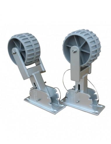 Sjösättningshjul Aluminium fällbara multifunktion