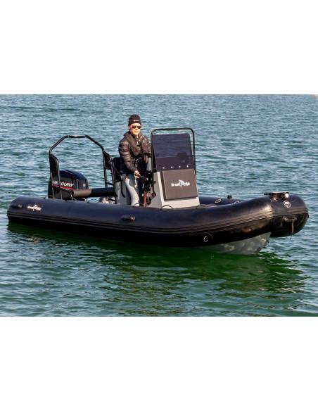 aluminiumrib 510 med soffa rattkonsol, targabåge och mercury 50Hk båtmotor