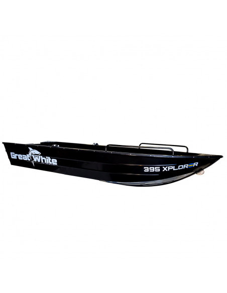 xplorer 395 aluminiumbåt från Greatwhite. Perfekt för fiske och nöjesturer