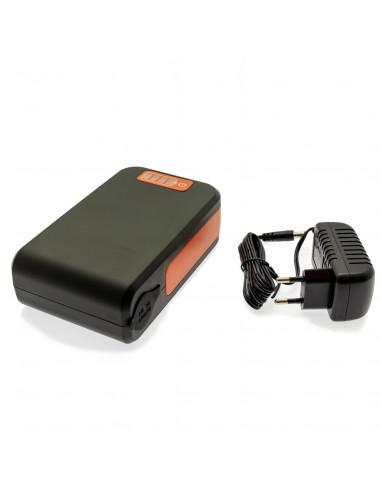 batteribank med 12V uttag till våra luftpumpar
